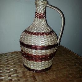 Бутылка из лозы 01