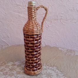 Бутылка из лозы 03