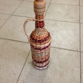 Бутылка из лозы 14