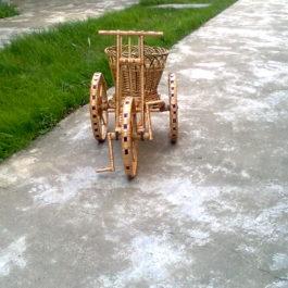 Велосипед из лозы 03