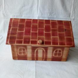 Деревянная хлебница  для хранения хлеба 01