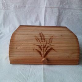 Деревянная хлебница для хранения хлеба 02