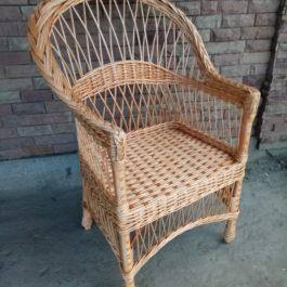 Кресло плетеное из лозы 03