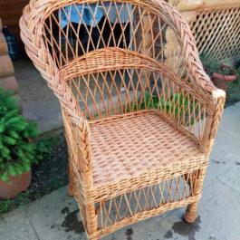 Кресло плетеное из лозы 06