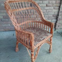 Кресло плетеное из лозы 08
