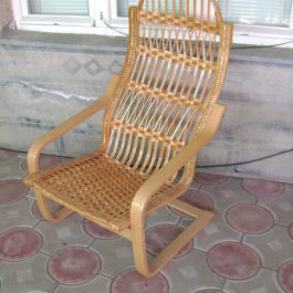 Кресло плетеное из лозы 09