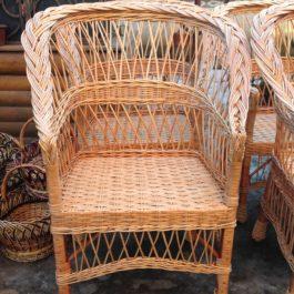Кресло плетеное из лозы 39