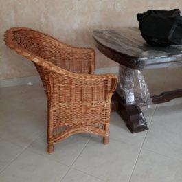 Кресло плетеное из лозы 42