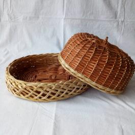 Хлебница из лозы 02