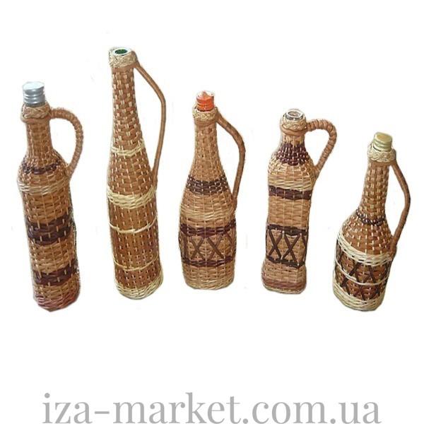 Бутылки плетенные